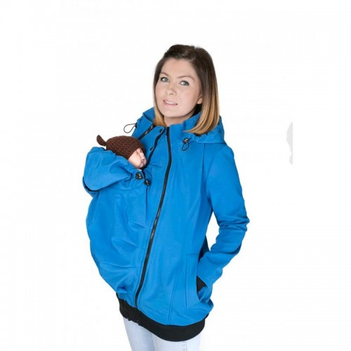 Abrigo de Porteo Softshell 3 en 1 Corn Flower Blue
